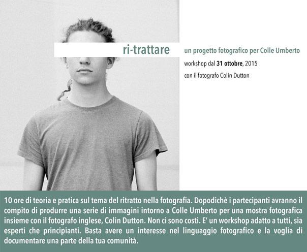 ri-trattare, progetto fotografico per Colle Umberto